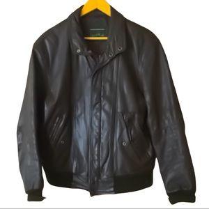 Vintage Quail Run Leather Bomber Jacket Brown 44